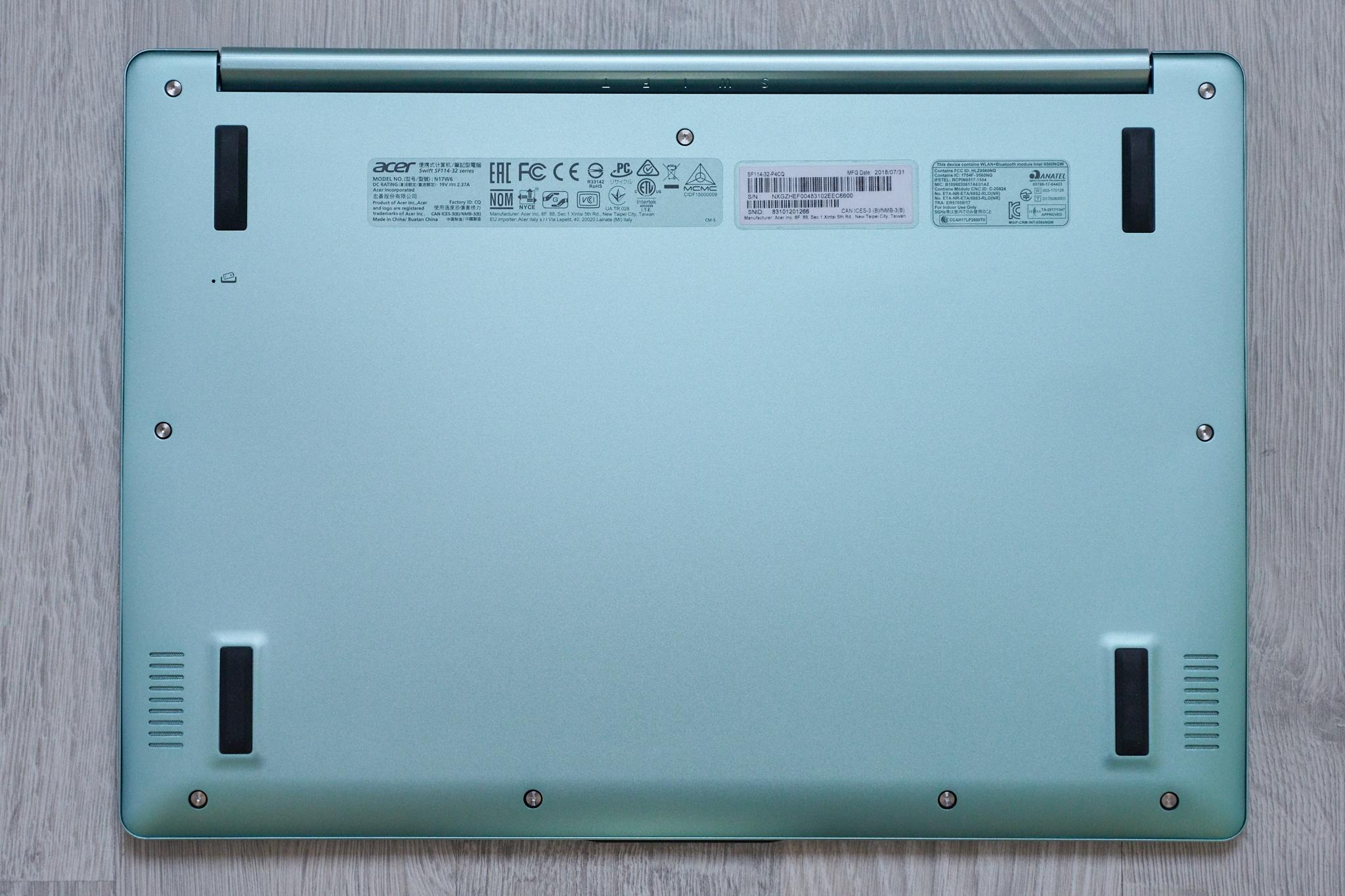 5701da2935e Test Acer Swift SF114-32 – ultrabook silencieux pas cher