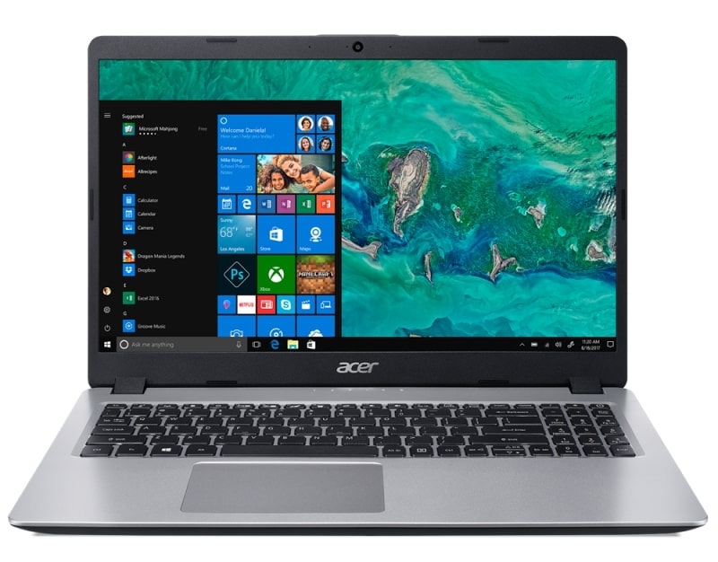 Acer Aspire A515-52-35K9, PC portable 15 pouces léger (499€)