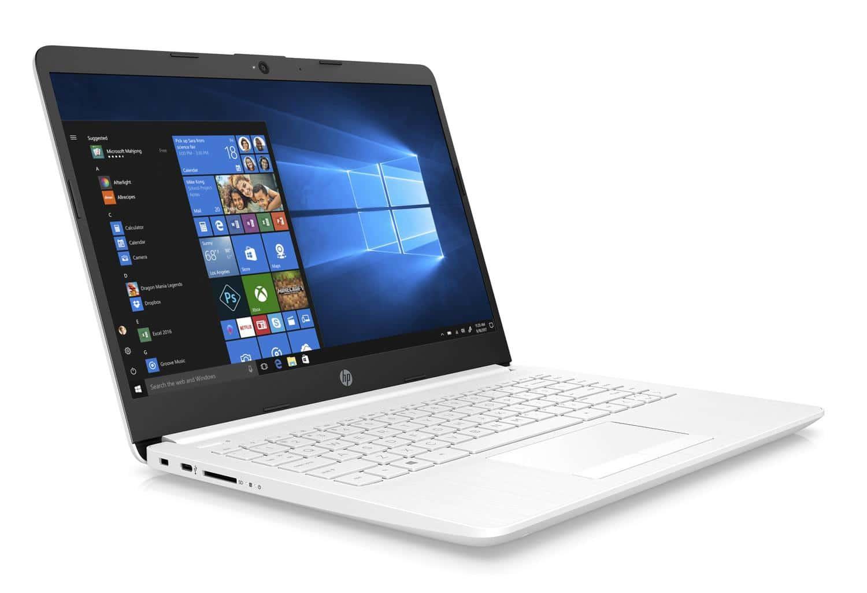 HP 14-ck0001nf, 14 pouces Blanc bureautique SSD (349€)