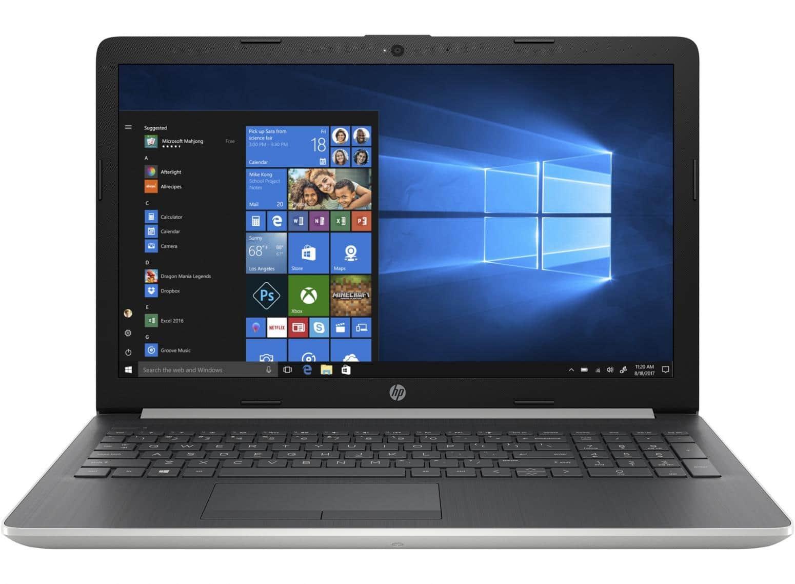 "HP 15-db0049nf, PC portable 15"" mat 8 Go argent (499€)"