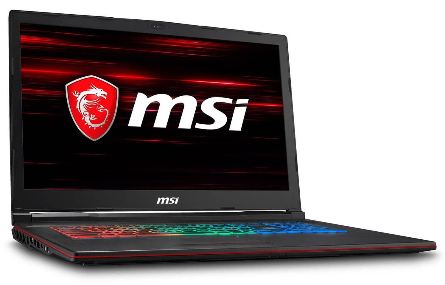 MSI GP73 8RE-480XFR, 17 pouces portable gamer 16 Go (1179€)