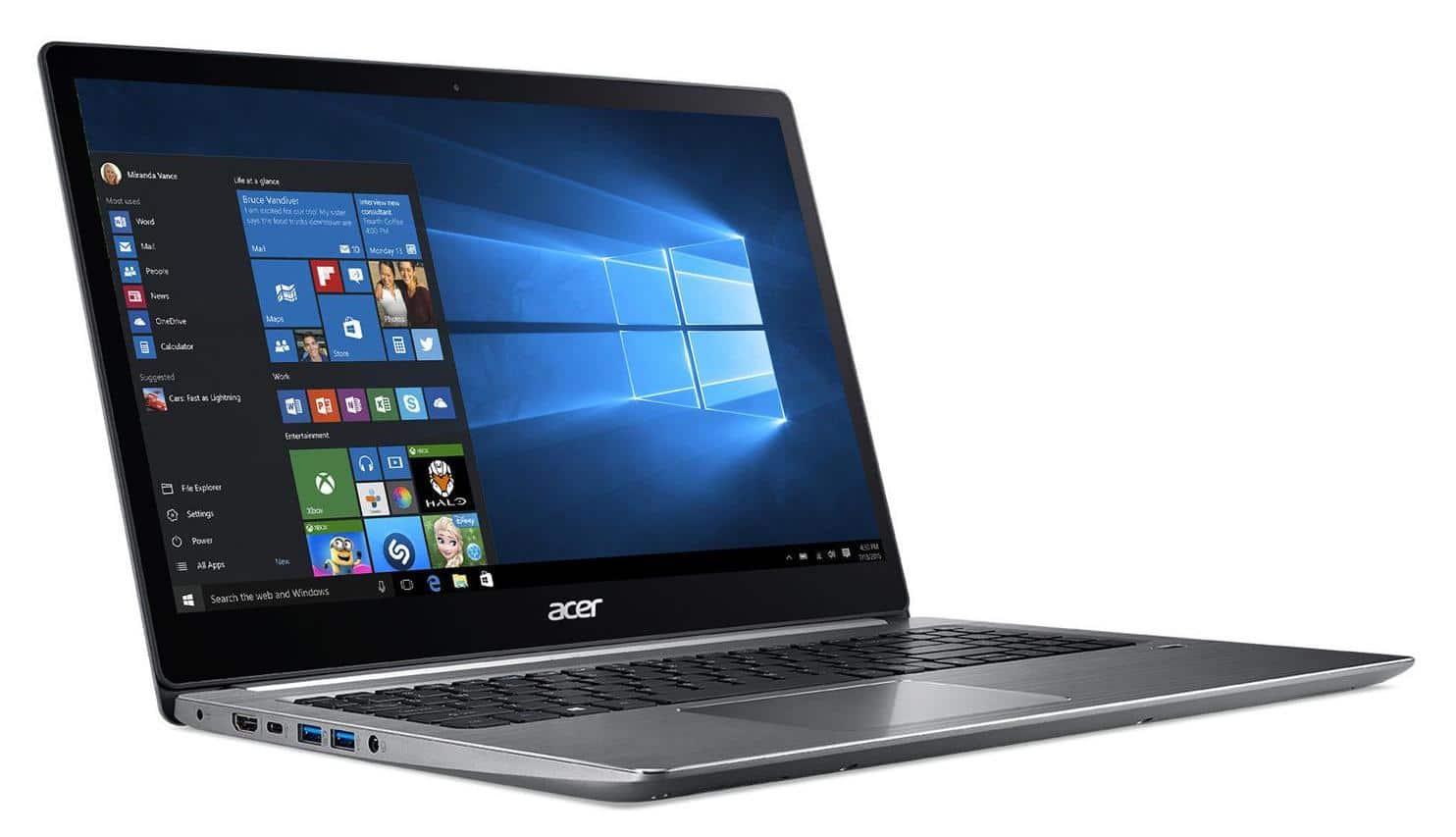 Acer Swift SF315-41-R31C, 15 pouces AMD SSD 512 Go (849€)