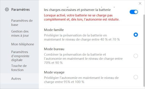 Test Huawei MateBook 13 Batterie
