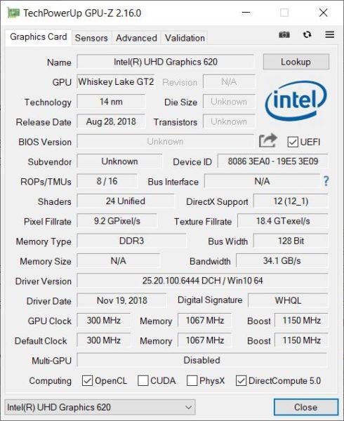 Test Huawei MateBook 13 GPU
