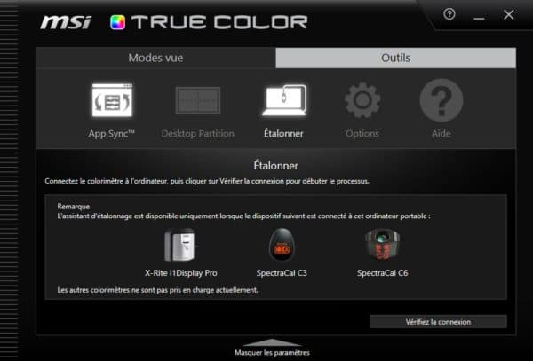 Test MSI Prestige P65 Creator MSI True Color