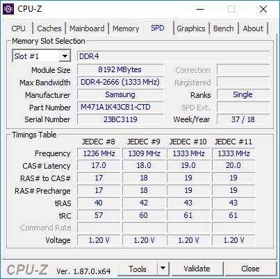 Test MSI Prestige P65 Creator CPU