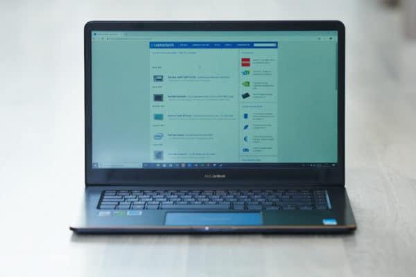 Test Asus ZenBook Pro 15 UX580 Ecran