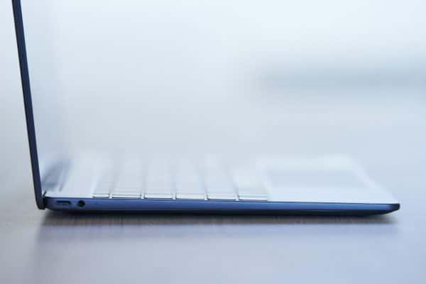 Test Huawei MateBook 13 connectique port gauche