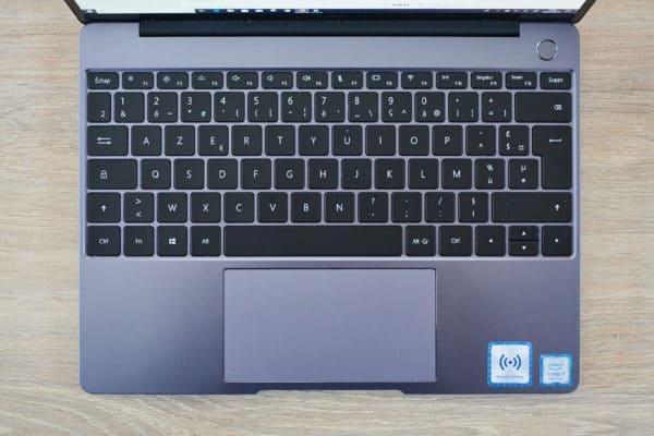 Test Huawei MateBook 13 clavier