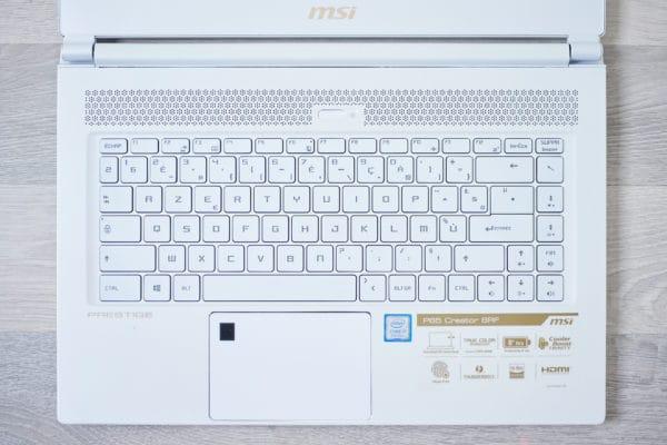 MSI Prestige P65 Creator Clavier