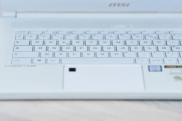 MSI Prestige P65 Creator Touchpad