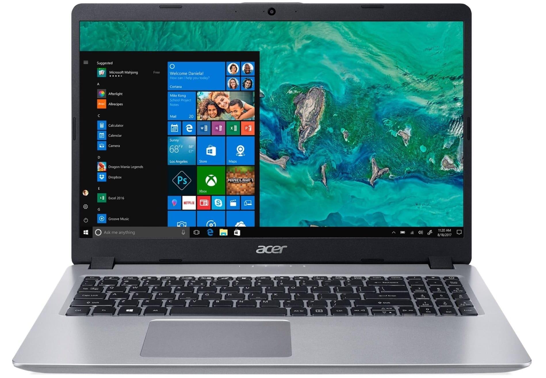 """Acer Aspire A515-52-32P6, 15"""" bureautique écran mat (519€)"""
