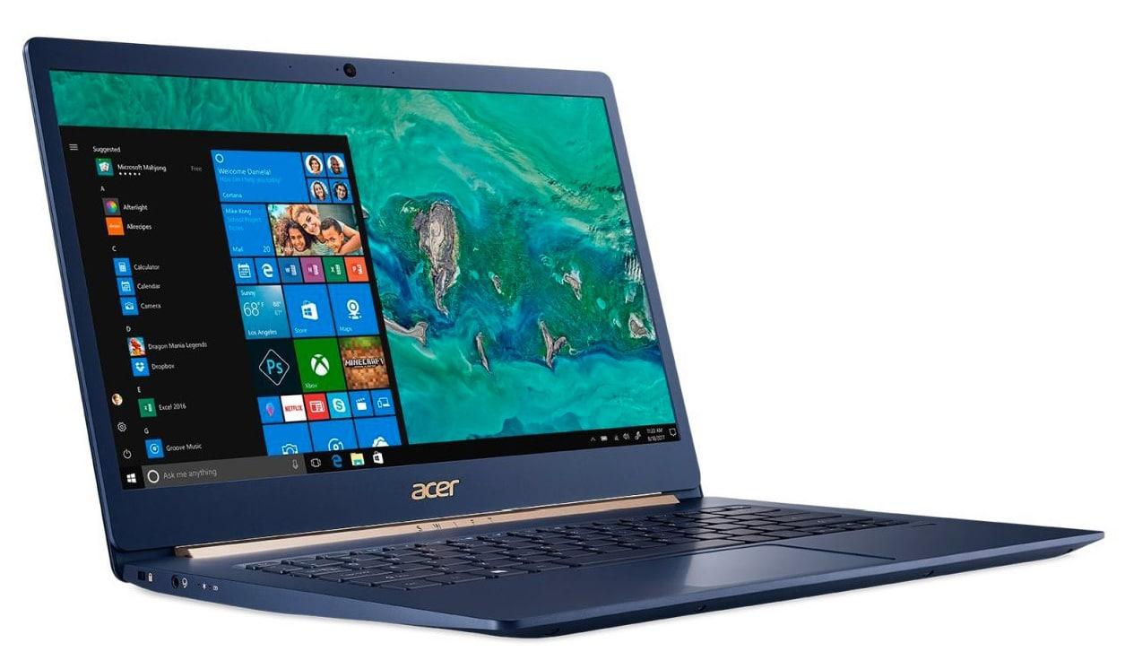Acer Swift SF514-53T-768Q, 14 pouces Tactile bleu léger (999€)