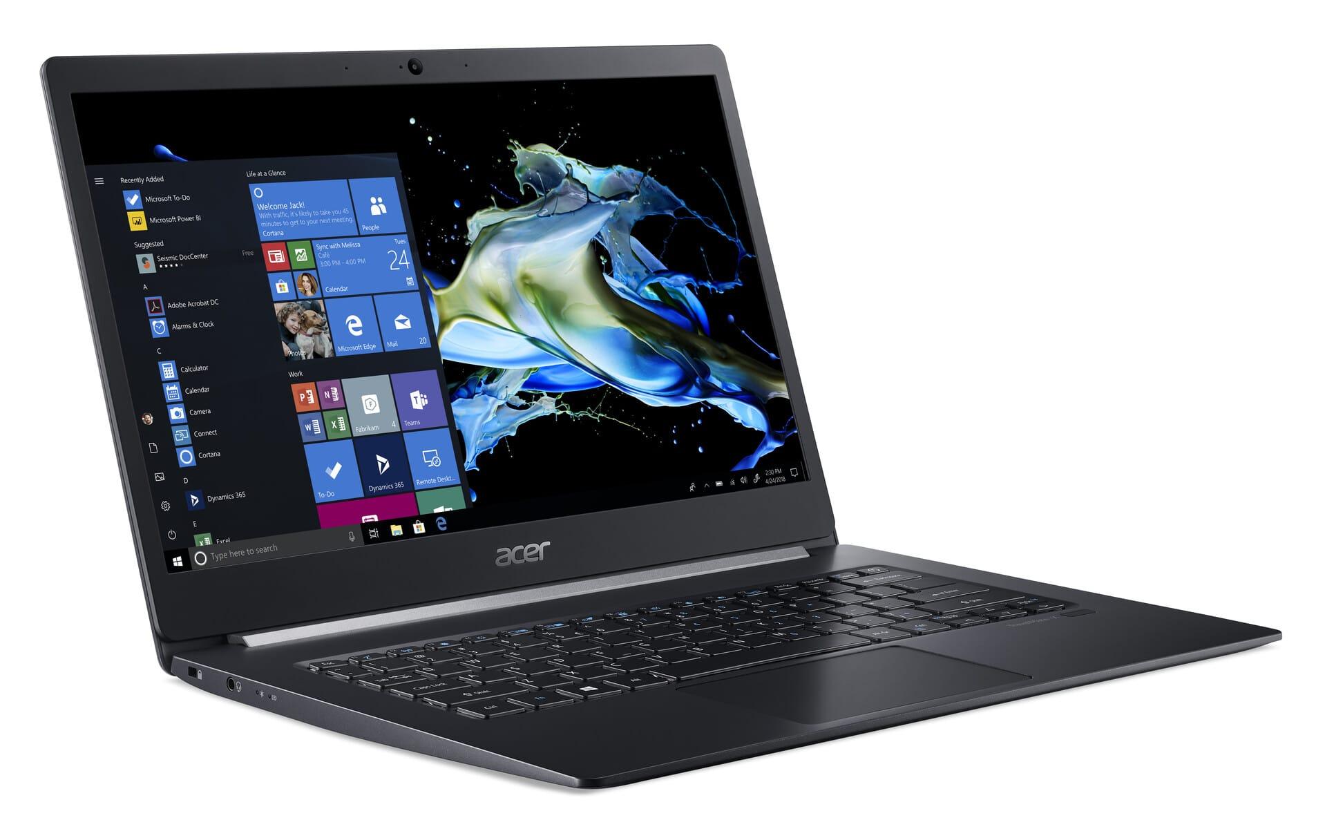 "Acer TravelMate X514-51, Ultrabook 14"" Pro léger 980gr 14.9mm"