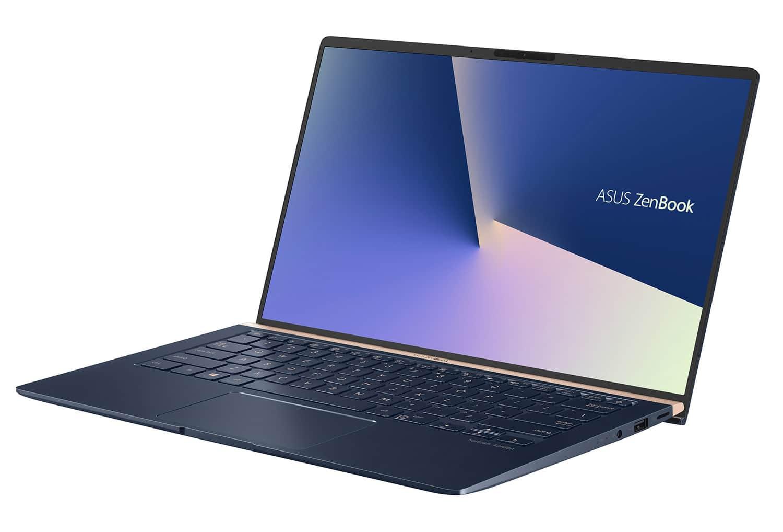"Asus UX433FA-A6024T, Ultra 14"" léger réactif bleu NumPad (999€)"