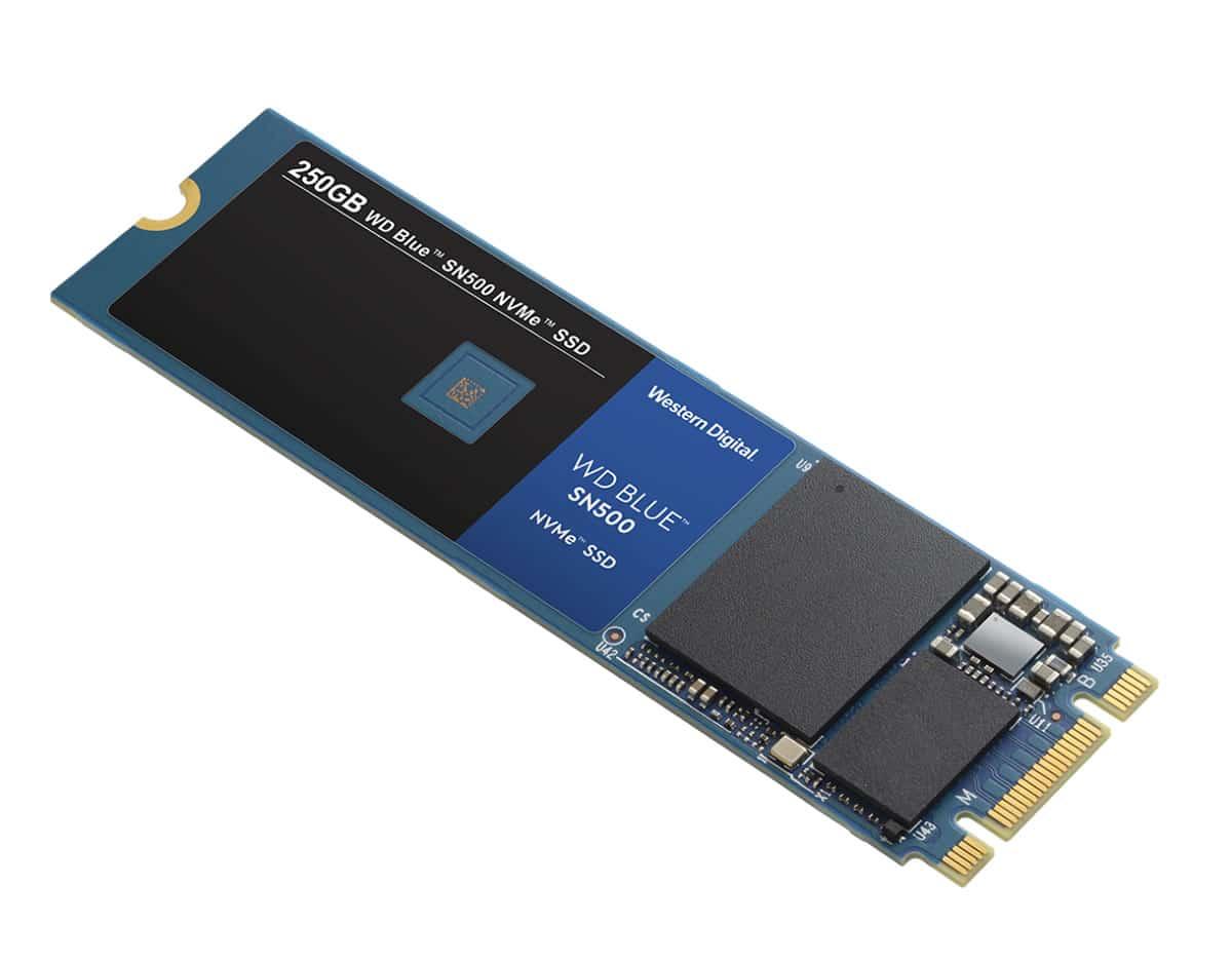 Western Digital SN500, nouveau SSD M.2 NVMe qui se veut abordable