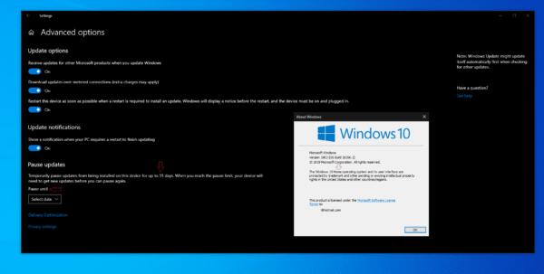 Windows 10 1903 April 2019 Update 19H1 pause maj