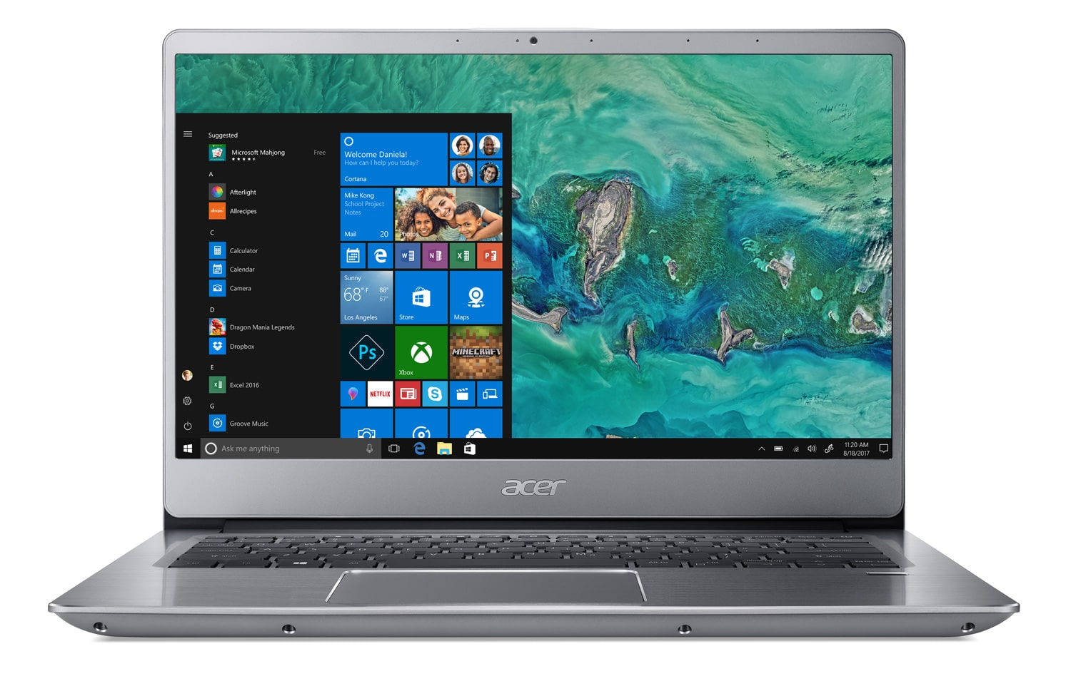 "Acer SF314-54-555T, Ultrabook 14"" bords fins rapide léger (579€)"