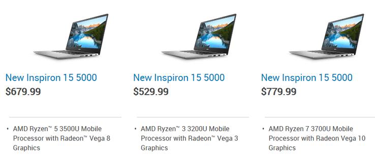 "<span class=""tagtitre"">Dell - </span>PC portables Inspiron 15 avec processeurs AMD Picasso Ryzen"