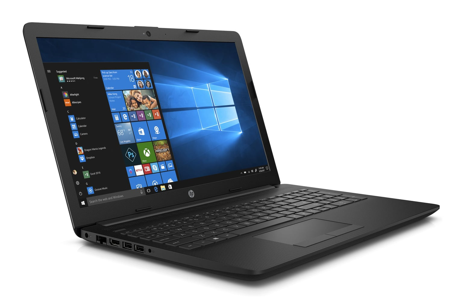"HP 15-db0059nf, PC portable 15"" rapide gros stockage noir (499€)"