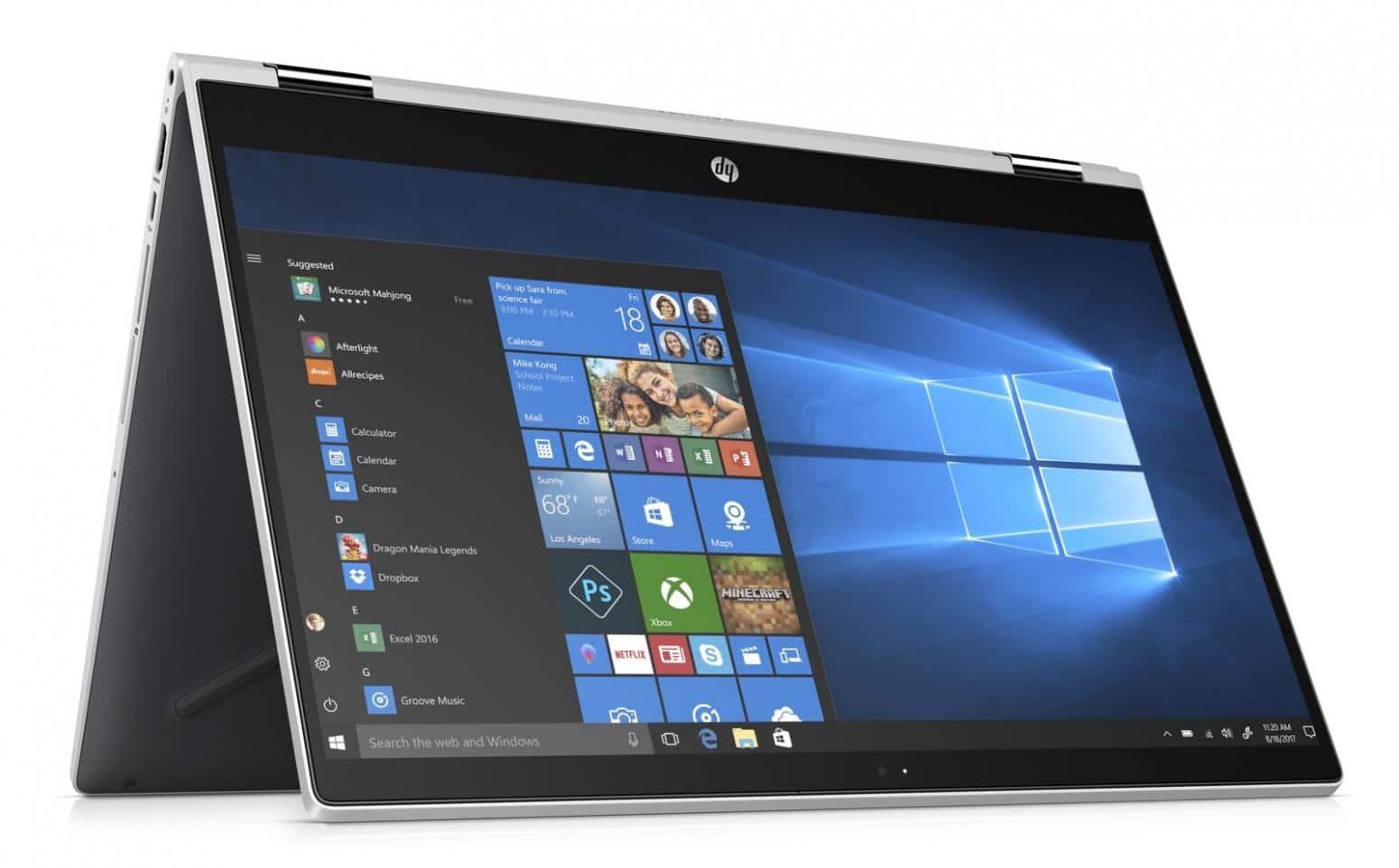 "HP Pavilion x360 15-cr0004nf, 15"" tablette tactile (863€)"