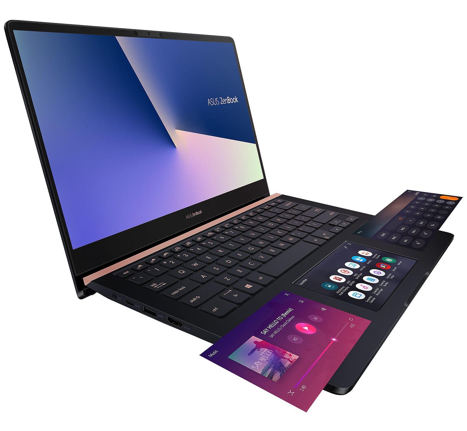 """Asus UX480FD-E9117T, ultrabook tactile 14"""" ScreenPad (1499€)"""