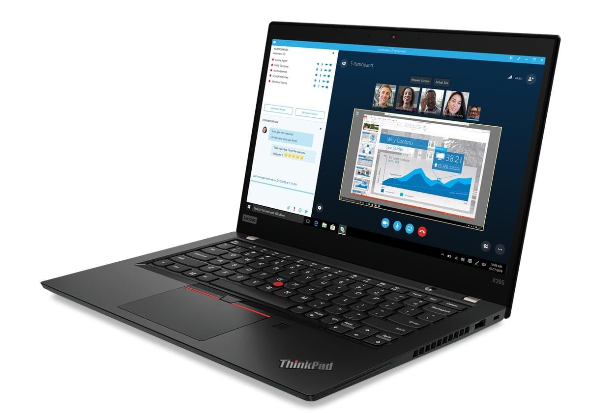 "Lenovo ThinkPad X395, Ultraportable 13"" Pro fin léger AMD Ryzen 14h30"