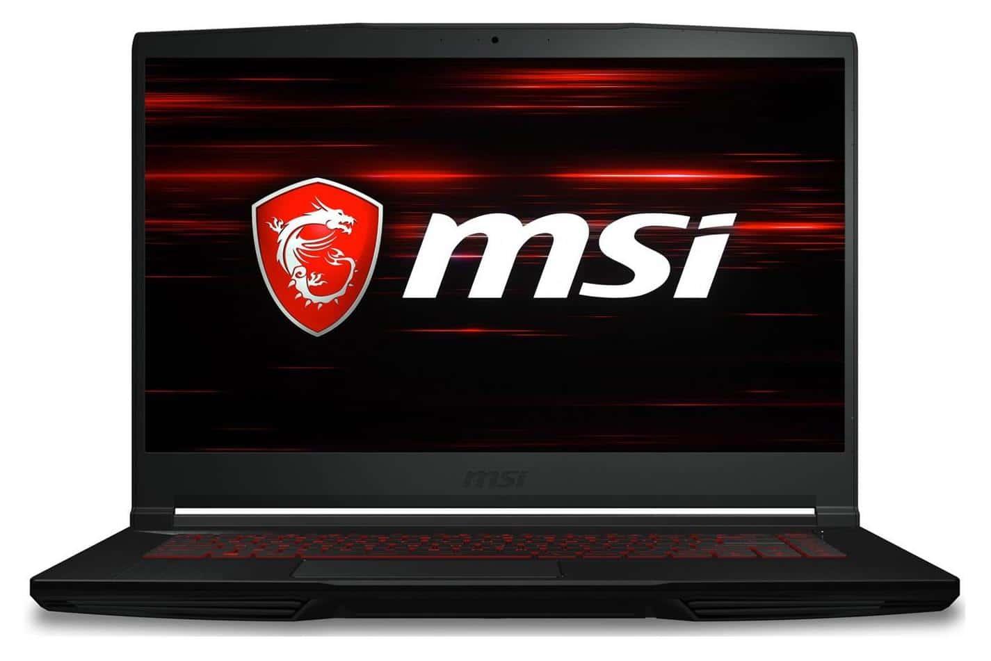 """MSI GF63 9SC-056FR, PC gamer 15"""" léger GTX 1650 (999€)"""