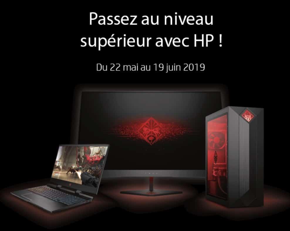 """<span class=""""tagtitre"""">Bon Plan - </span>HP rembourse jusqu'à 250€ pour l'achat d'un PC gaming"""