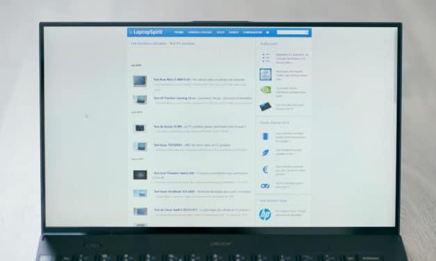 """<span class=""""tagtitre"""">Test Acer Swift 7 SF714-52T, l'ultrabook le plus léger - </span>très cher(s) grammes"""