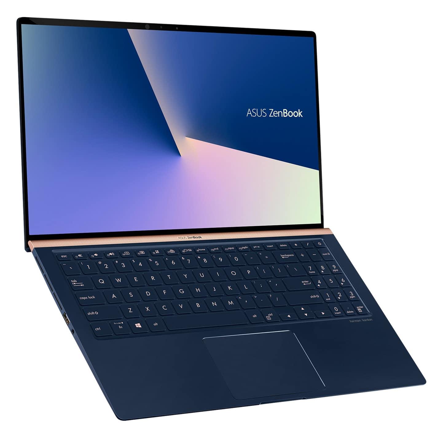 """Asus Zenbook UX533FN-A8074T, 15"""" borderless bleu (1399€)"""