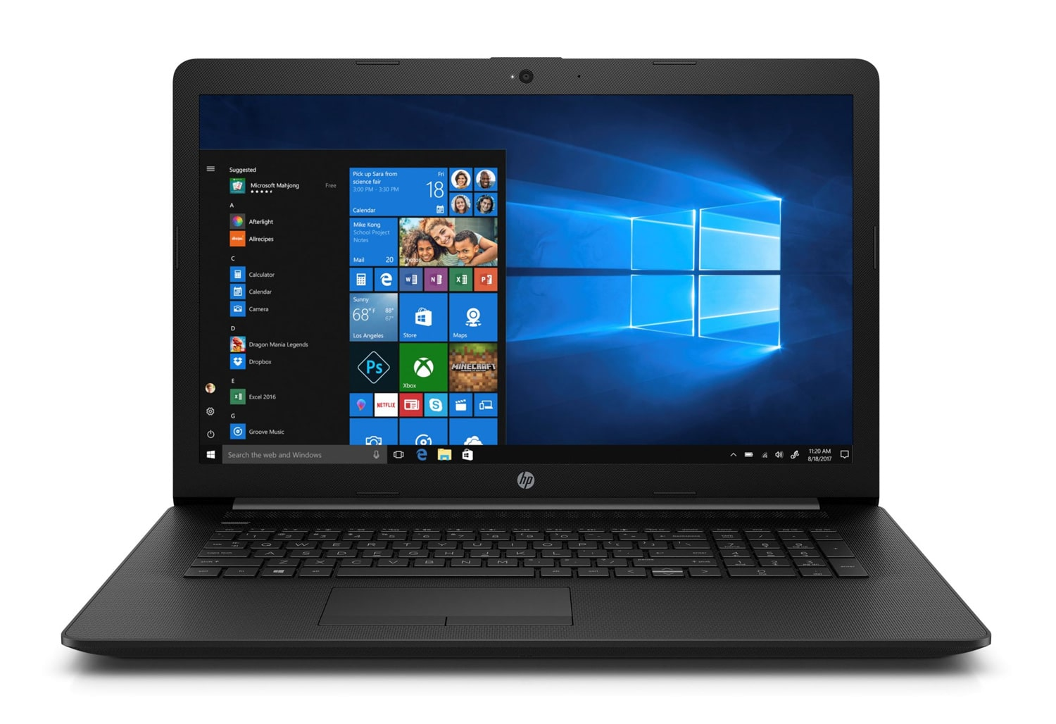 "HP 17-by1012nf, PC portable 17"" noir gros stockage rapide (749€)"