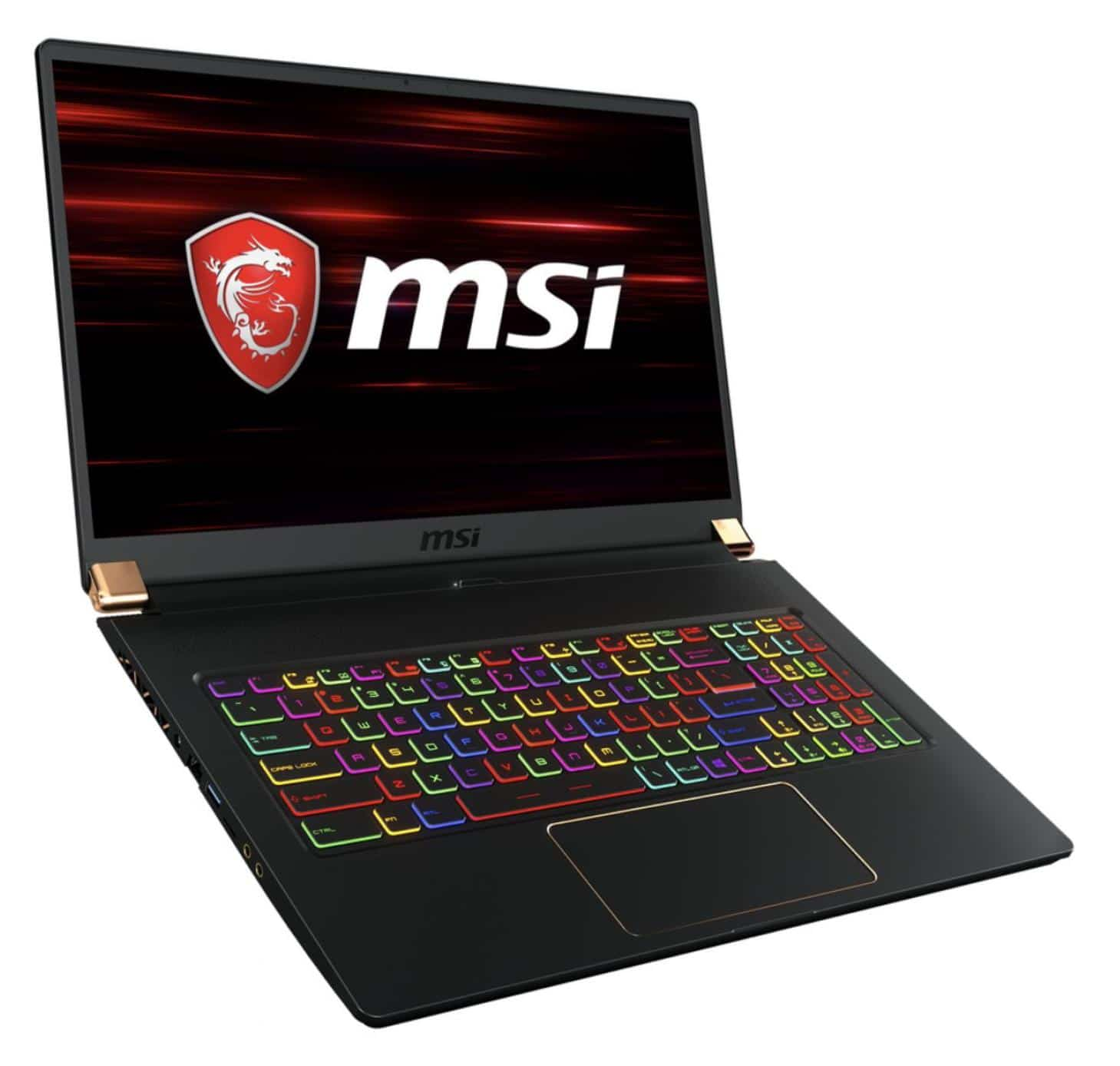 "MSI GS75 9SD-457FR, ultrabook gamer 17"" léger Turing (1889€)"