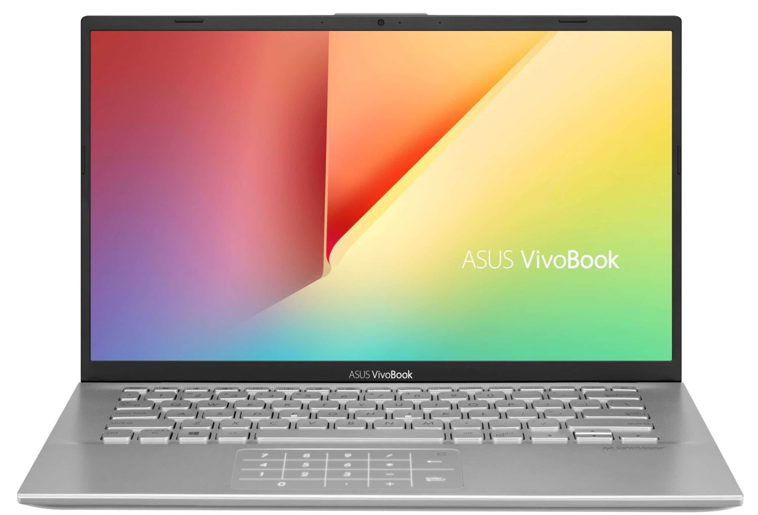 """Asus VivoBook S14-S412, 14"""" réactif pavé numérique (499€)"""