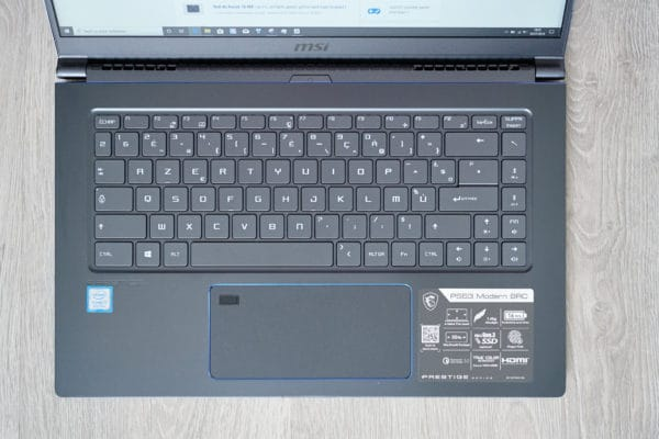Test MSI PS63 Modern 8RC