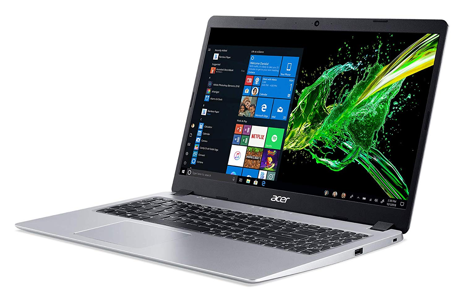 "Acer Aspire A515-43-R2ND, ultrabook 15"" rapide pas cher (476€)"