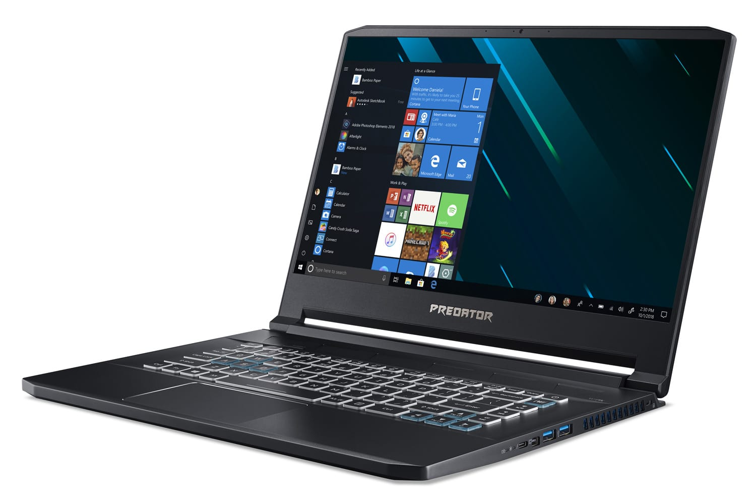 "<span class=""soldes-best"">Soldes 2499€</span> Acer Triton PT515-51, Ultrabook 15"" 144Hz gamer puissant"