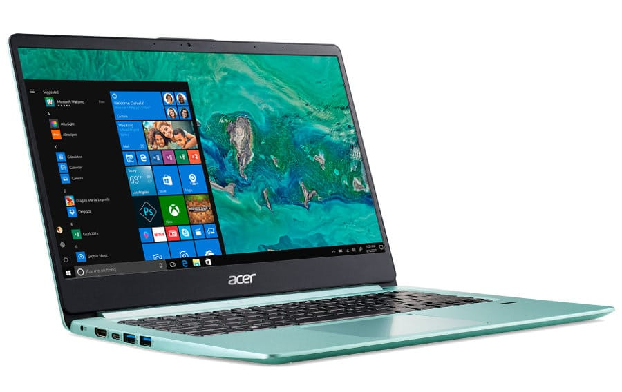 """Acer SF114-32-P43Y, PC portable 14"""" vert fin léger et rapide (419€)"""