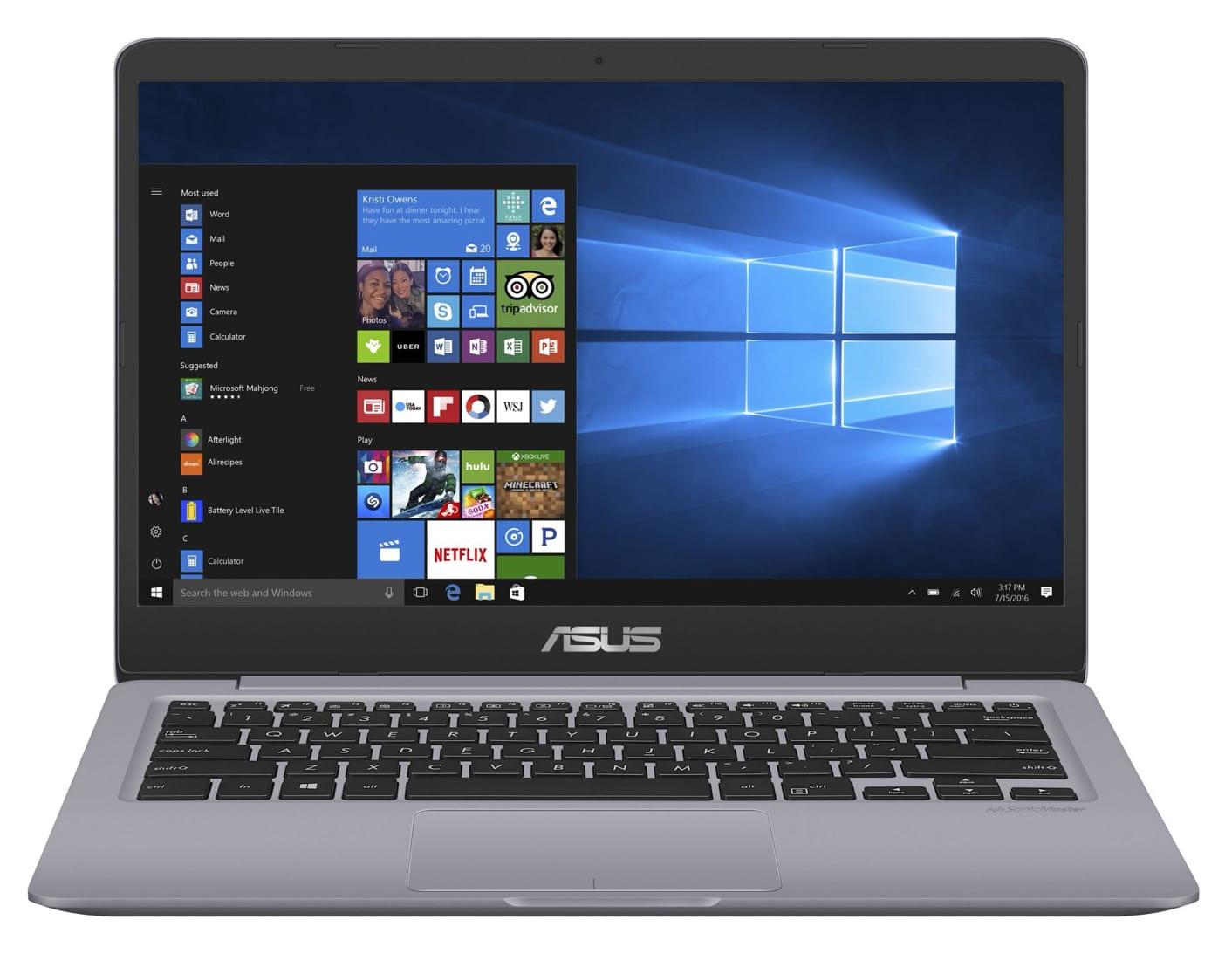 Asus S401QA-EB097T, 14 pouces réactif SSD 512 Go (399€)