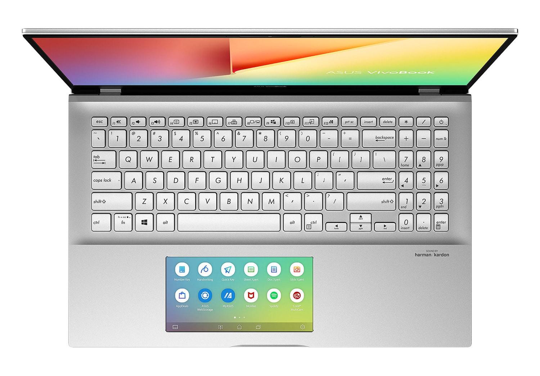 """Asus S532FA-BQ044T, Ultra 15"""" argent rapide ScreenPad + Tablette + écouteurs (799€)"""