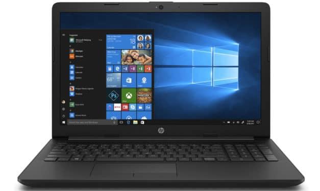 """HP 15-da0136nf, PC portable 15"""" noir pas cher avec lecteur DVD (279€)"""