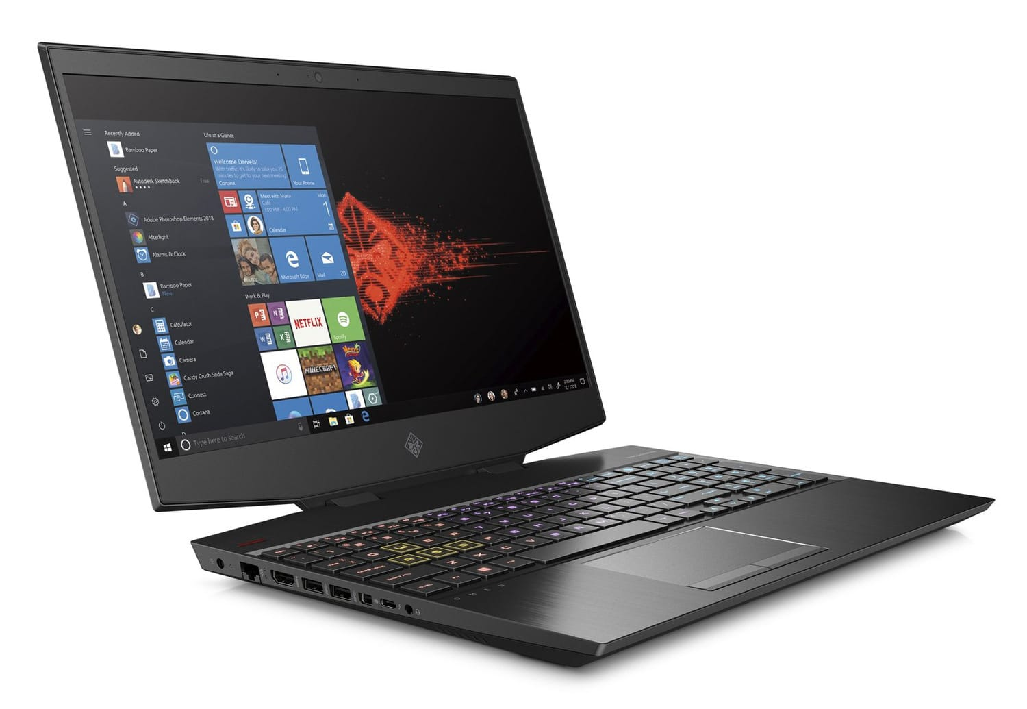 "HP Omen 15 Air, PC portable 15"" 144Hz gamer fin RTX 2080 Octo Core i9"