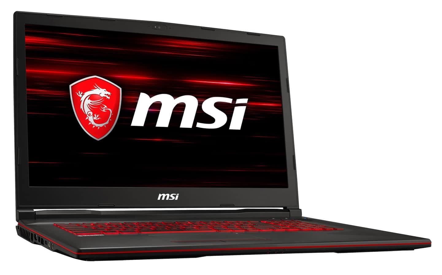 "MSI GL73 8SD-403XFR, PC 17"" joueur GTX 1660 Ti (989€)"