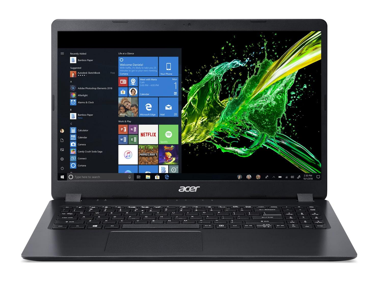 """Acer A315-42-R2H6, PC portable 15"""" noir rapide fin léger (499€)"""