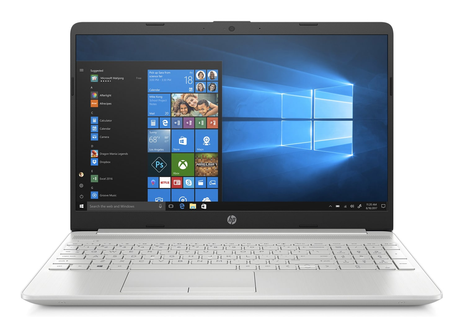 """HP 15-dw0083nf, Ultra 15"""" argent léger rapide gros stockage (619€)"""