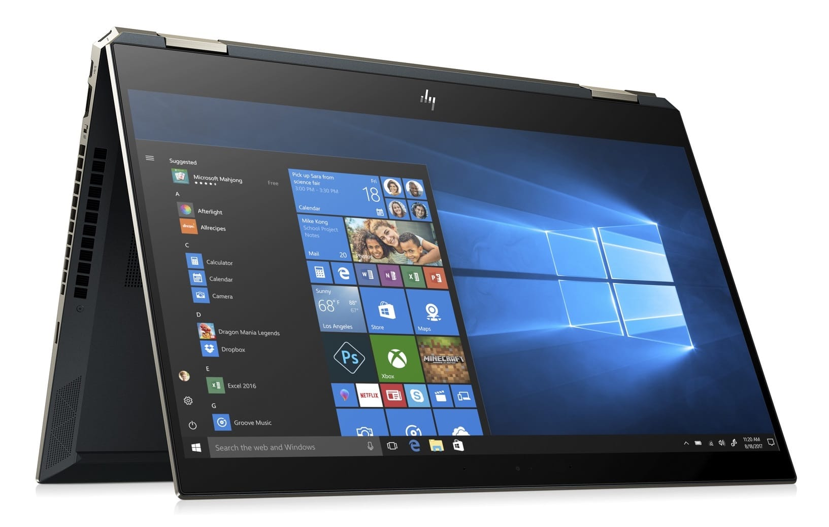 "HP Spectre x360 15-df0008nf, PC tablette 15"" 4K bleu (1760€)"