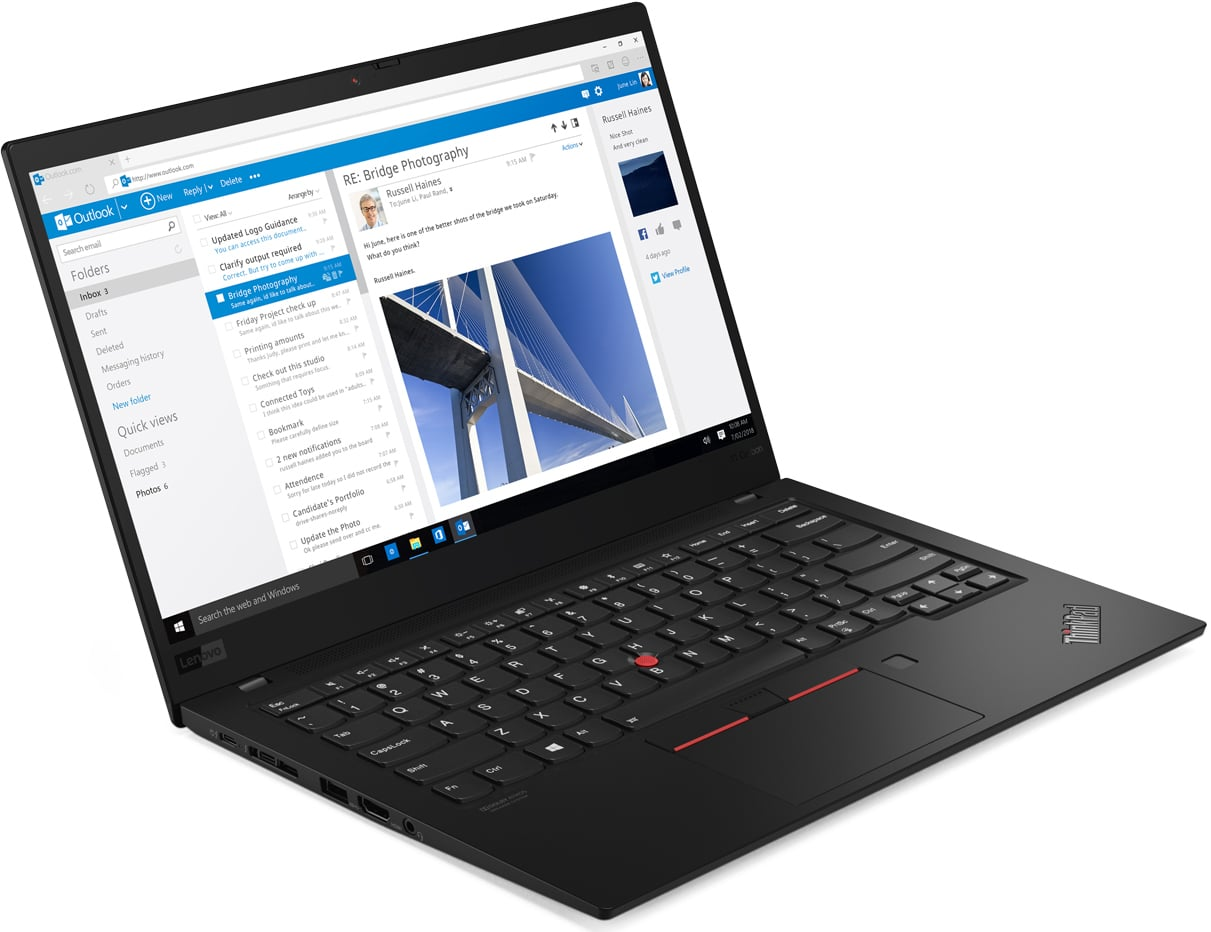 Lenovo ThinkPad X1 Carbon, Ultrabook 4K léger Comet Lake Hexa Core