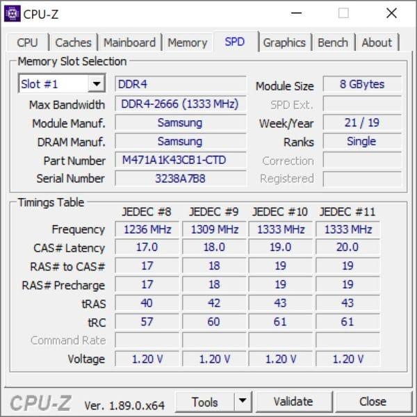 Connaitre les caractéristique de la mémoire vive installée dans un PC portable