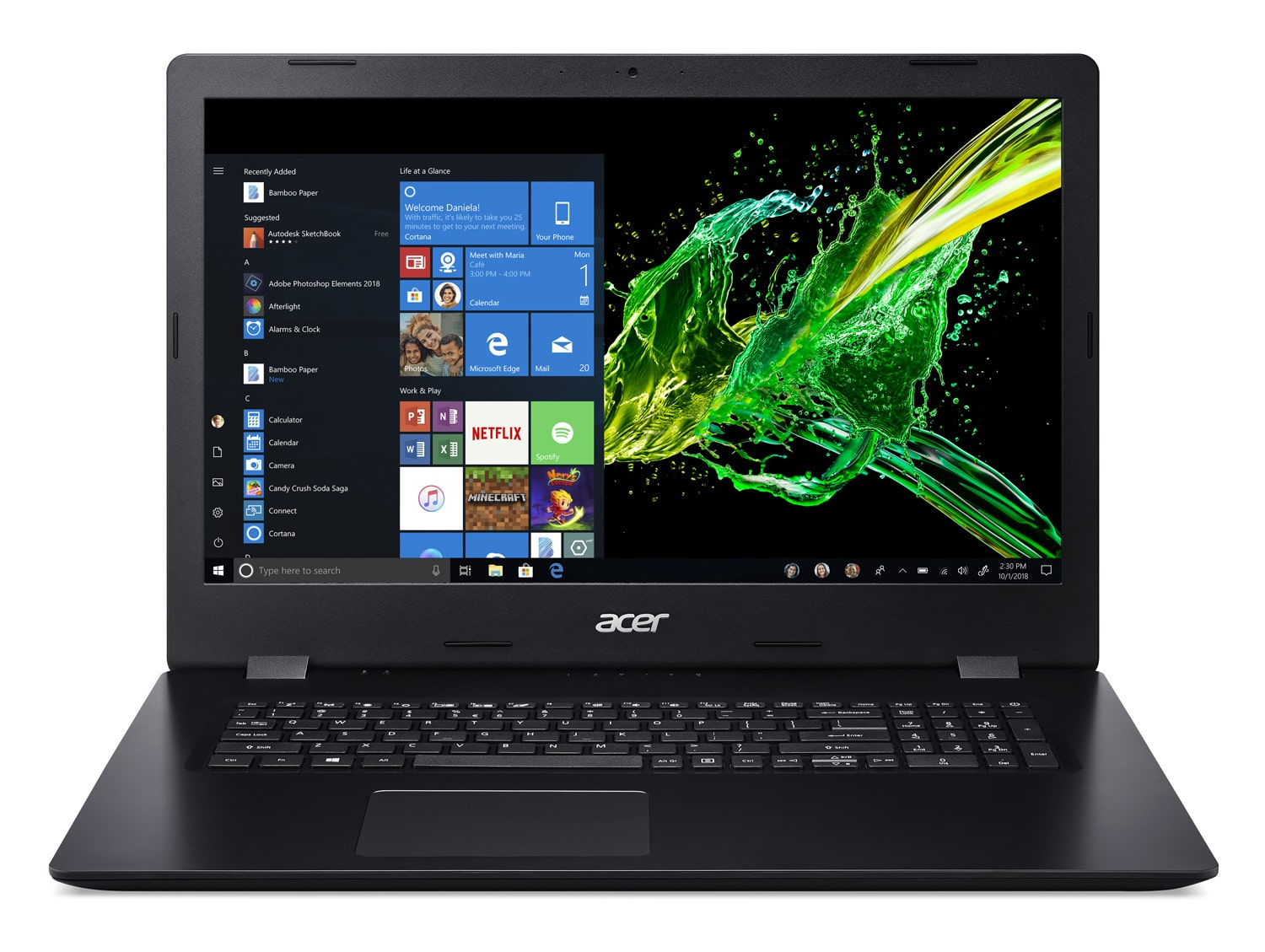 "Acer A317-51-50EJ, PC portable 17"" CD/DVD noir (719€)"