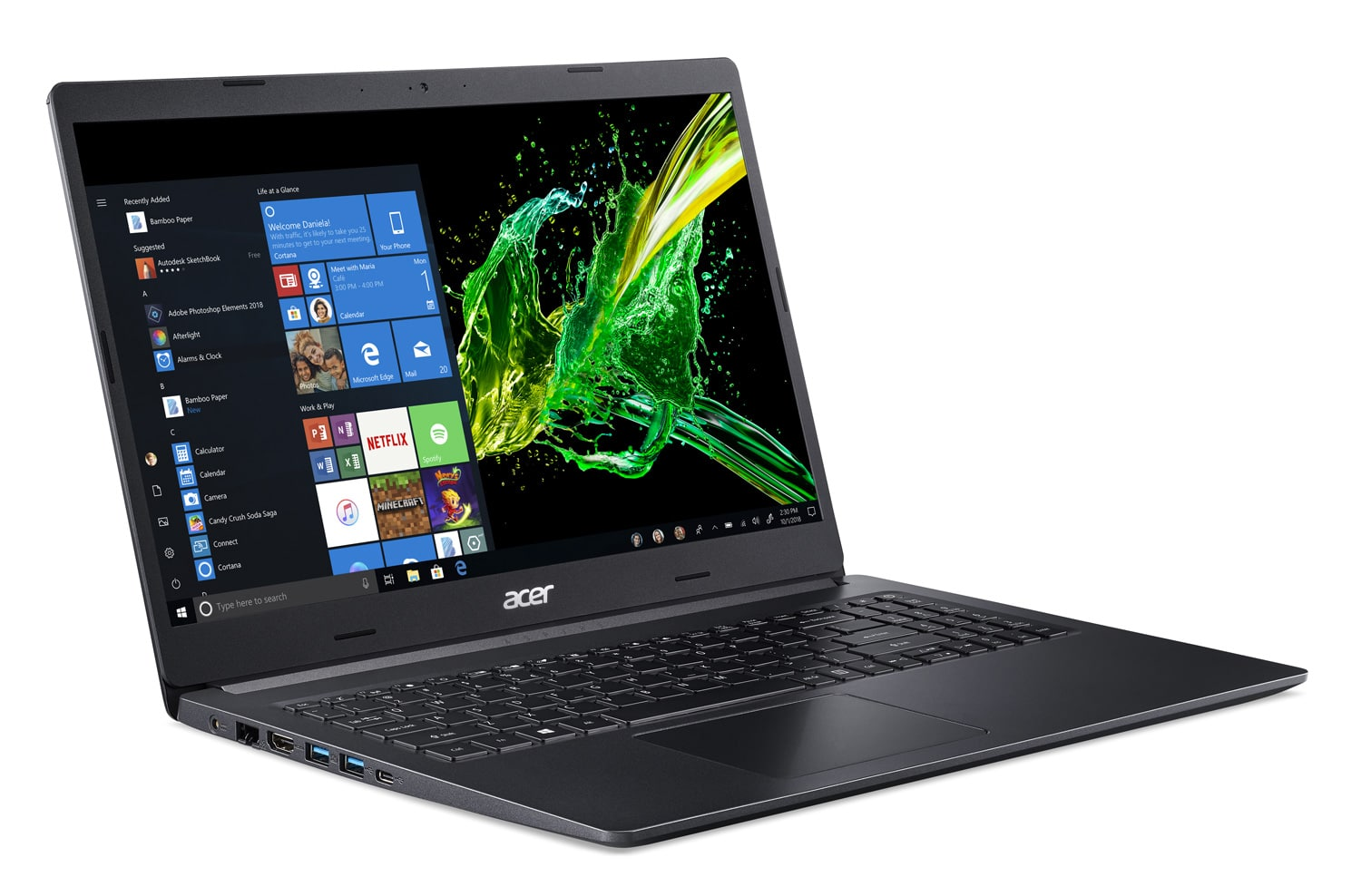 "Acer A515-54G-55BX, Ultra 15"" polyvalent léger SSD 1 To (899€)"
